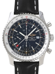 Breitling Navitimer World Sort/Læder Ø46 mm A2432212-B726-441X-A20BA.1
