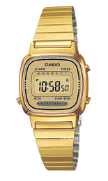 Casio Casio Collection Gul guldtonet stål 30.3x24.6 mm LA670WEGA-9EF