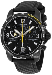 Certina DS Podium Big Chrono GMT Sort/Læder Ø42 mm C001.639.16.057.01