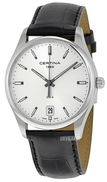 Certina DS 4 Sølvfarvet/Læder Ø40 mm C022.610.16.031.00