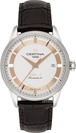 Certina DS 1 Sølvfarvet/Læder Ø40 mm C029.807.16.031.60