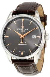 Certina DS 1 Grå/Læder Ø40 mm C029.807.16.081.01