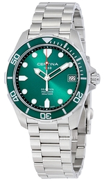 Certina DS Action Grøn/Stål Ø41 mm C032.410.11.091.00