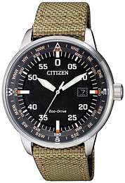 Citizen Eco Drive 180 Sort/Tekstil Ø42 mm BM7390-14E