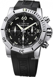 Corum Admirals Cup Seafender Sort/Gummi Ø46 mm 753.451.04-0371 AN22
