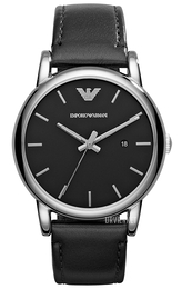 Emporio Armani Dress Sort/Læder Ø41 mm AR1692