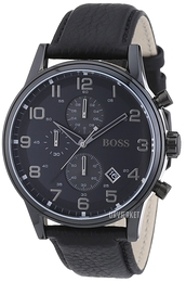 Hugo Boss Aeroliner Sort/Læder Ø44 mm 1512567