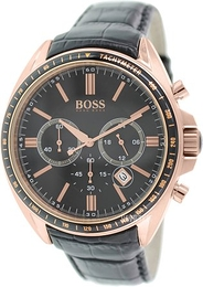 Hugo Boss Chronograph Sort/Læder Ø47 mm 1513092