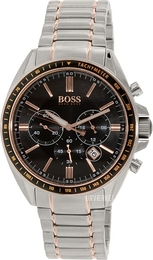 Hugo Boss Chronograph Sort/Rosaguldtonet stål 1513094