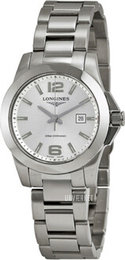 Longines Conquest Ladies Sølvfarvet/Stål Ø29.5 mm L3.277.4.76.6