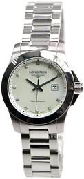 Longines Conquest Ladies Hvid/Stål Ø29.5 mm L3.277.4.87.6