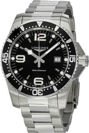 Longines Hydroconquest Sort/Stål Ø44 mm L3.840.4.56.6
