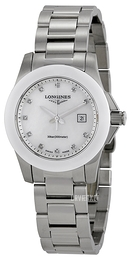 Longines Conquest Hvid/Stål Ø29.5 mm L3.257.4.87.6