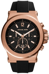 Michael Kors Dylan Sort/Gummi Ø48 mm MK8184