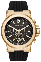 Michael Kors Dylan Sort/Gummi Ø48 mm MK8445