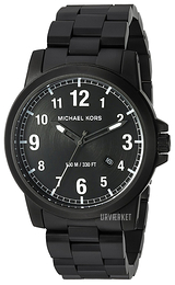 Michael Kors Paxton Sort/Stål Ø43 mm MK8532
