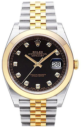 Rolex Datejust 41 Sort/18 karat guld Ø41 mm 126303-0006