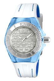 Technomarine Cruise Monogram Sølvfarvet/Gummi Ø34 mm TM-115158