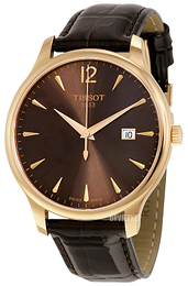 Tissot Tradition Gent Brun/Læder Ø42 mm T063.610.36.297.00