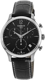 Tissot Tradition Sort/Læder Ø42 mm T063.617.16.057.00