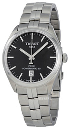 Tissot PR 100 Automatic Gent Sort/Stål Ø39 mm T101.407.11.051.00