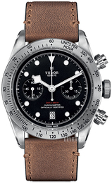 Tudor Black Bay Chrono Sort/Læder Ø41 mm 79350-0002