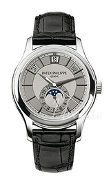 Patek Philippe Complicated Annual Calender Sølvfarvet/Læder Ø40 mm 5205G/001