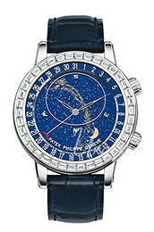 Patek Philippe Grand Complications Celestial Blå/Læder Ø44 mm 6104G/001