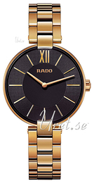 Rado Coupole Sort/Gul guldtonet stål Ø33 mm R22851163