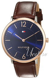 Tommy Hilfiger Ultra Slim Blå/Læder Ø40 mm 1710354