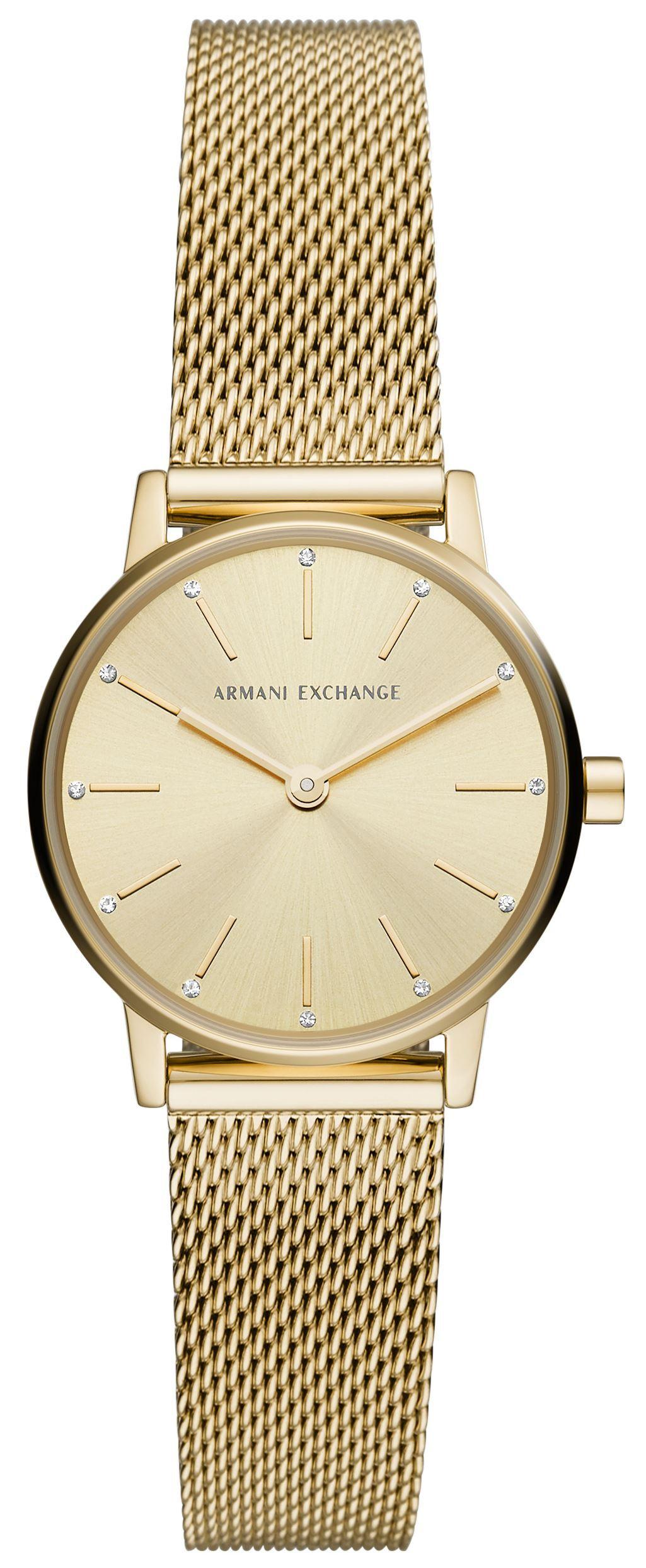 Armani Exchange LOLA Dameur AX5567 Guldfarvet/Guldtonet stål Ø28 mm