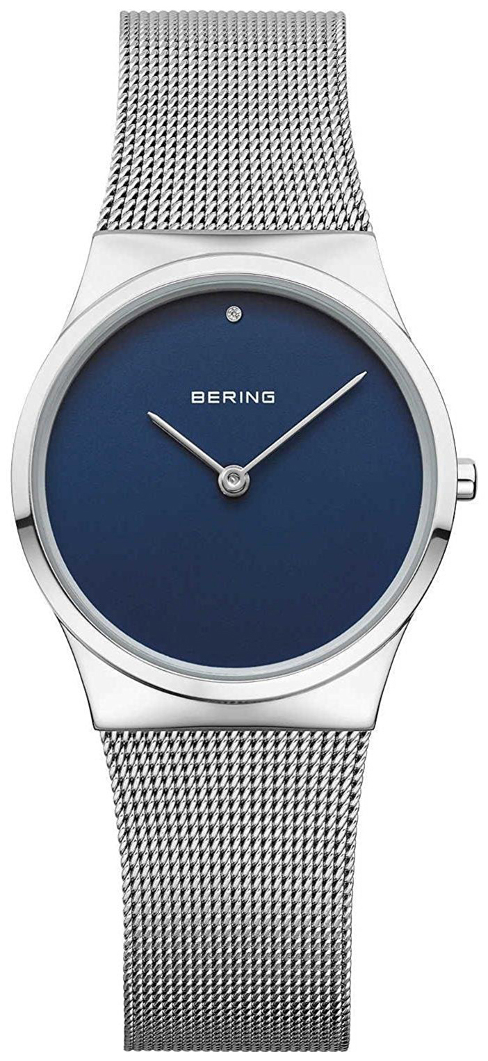 Bering Classic Dameur 12130-007 Blå/Stål Ø30 mm