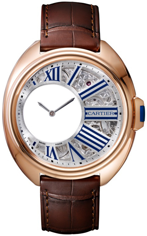 Cartier Cle De Cartier Herreur WHCL0002 Skeletskåret/Læder Ø41 mm