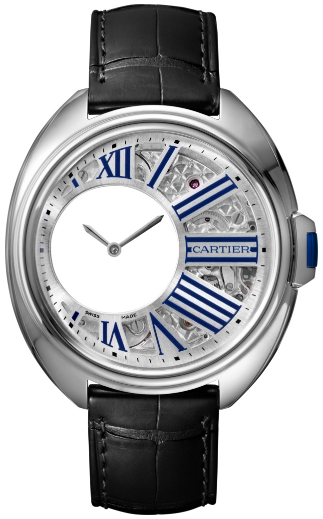 Cartier Cle De Cartier Herreur WHCL0003 Skeletskåret/Læder Ø41 mm