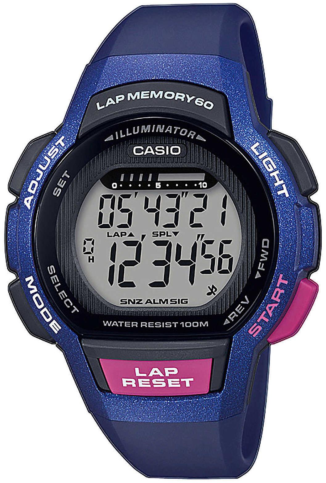 Casio Collection Dameur LWS-1000H-2AVEF LCD/Resinplast Ø37.2 mm