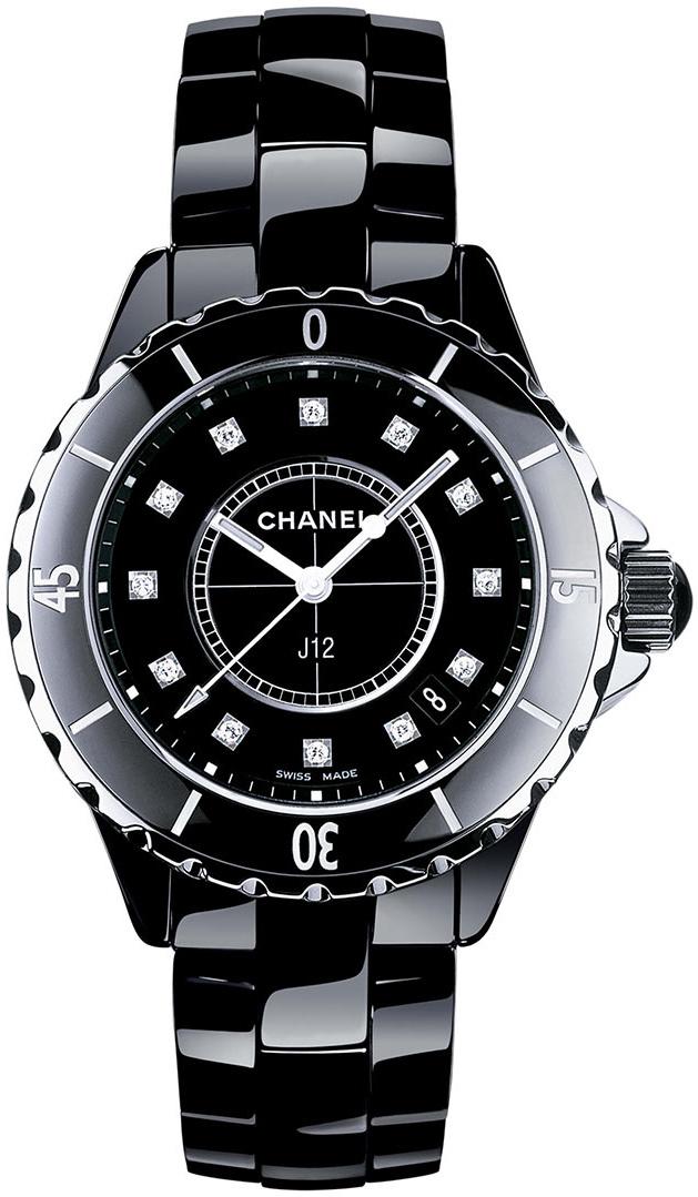 Chanel J12 Dameur H1625 Sort/Keramik Ø33 mm