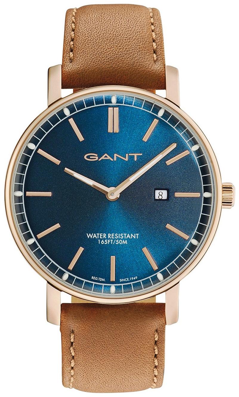 Gant Nashville Herreur GT006016 Blå/Læder Ø42 mm