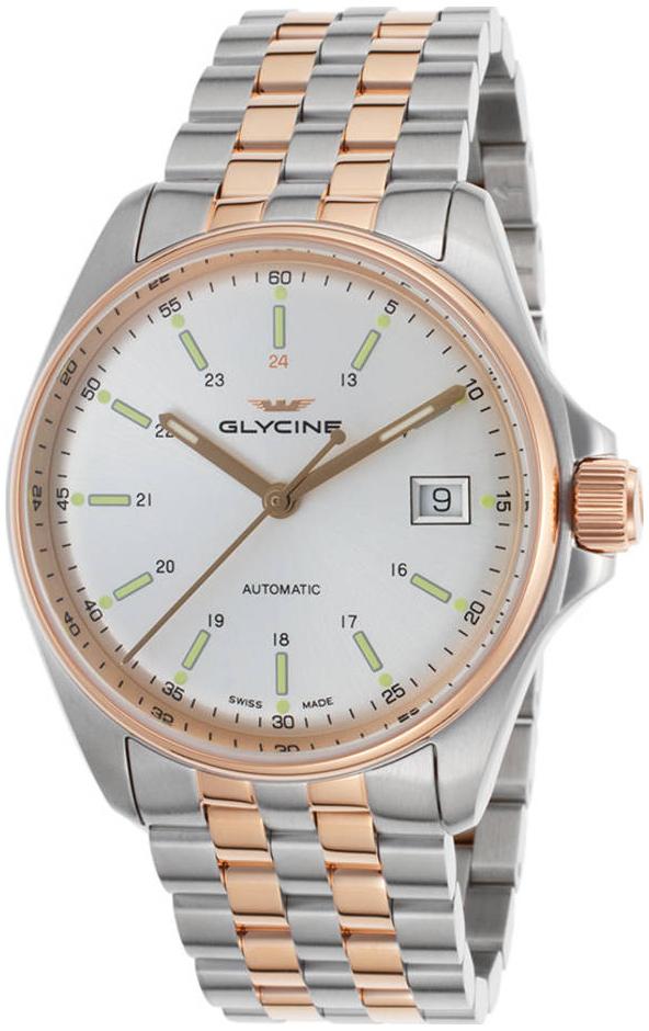 Glycine Combat GL0108 Sølvfarvet/Rosaguldtonet stål Ø36 mm