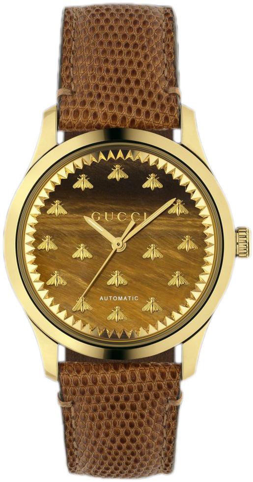 Gucci G-Timeless YA1264121 Brun/Læder Ø38 mm