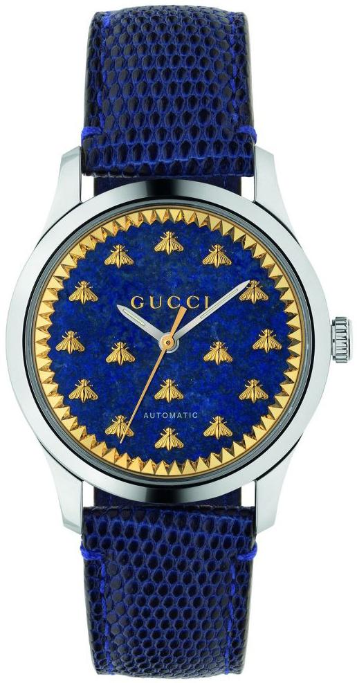 Gucci G-Timeless YA1264122 Blå/Læder Ø38 mm
