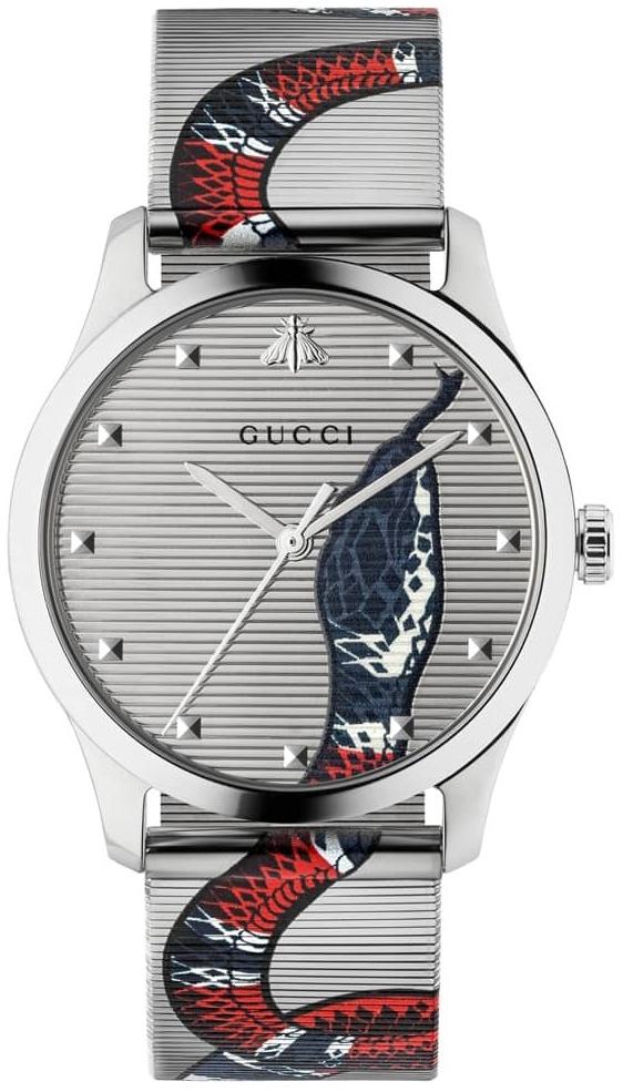 Gucci G-Timeless YA1264123 Sølvfarvet/Stål Ø38 mm