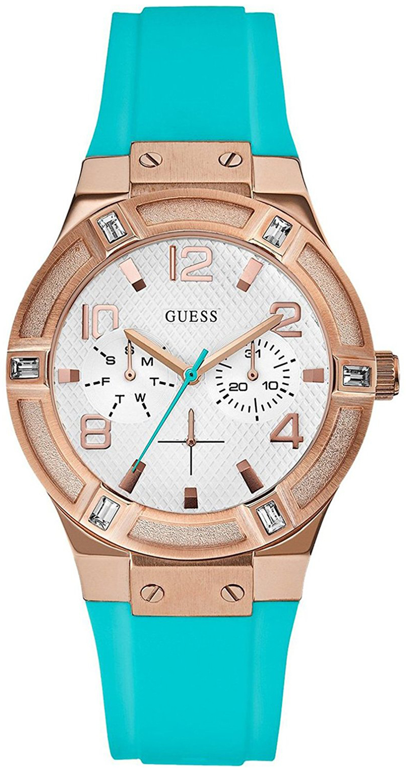 Guess Sporty Dameur W0564L3 Sølvfarvet/Gummi Ø36 mm