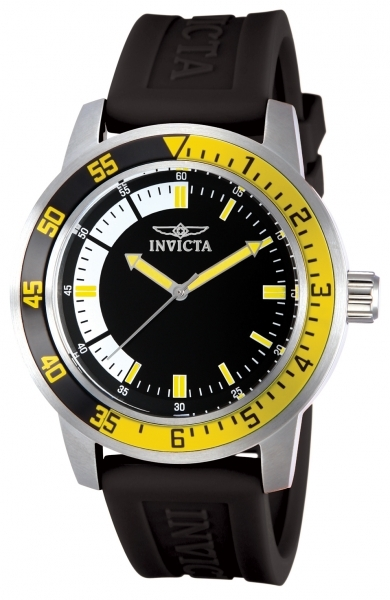 Invicta Specialty Herreur 12846 Sort/Gummi Ø45 mm