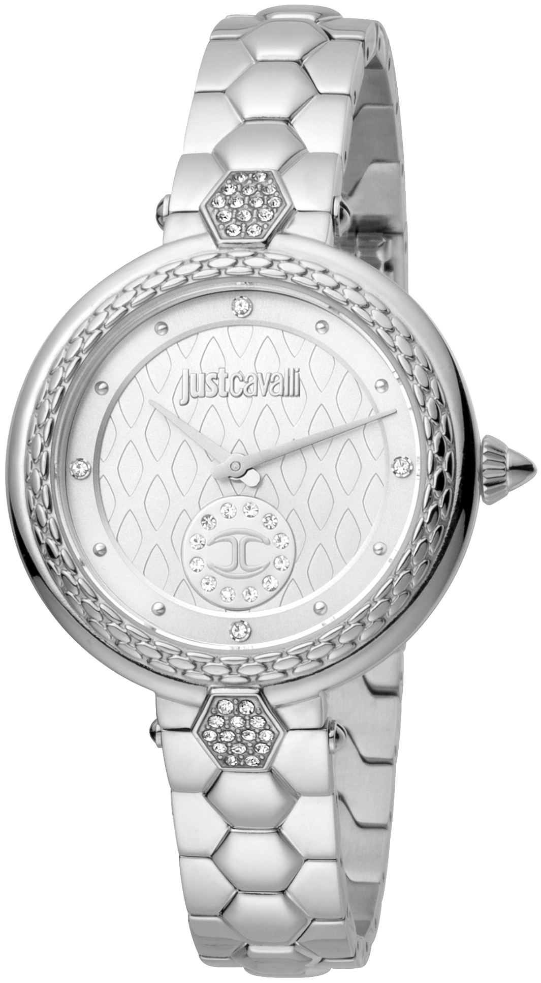 Just Cavalli 99999 Dameur JC1L128M0055 Sølvfarvet/Stål Ø34 mm