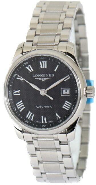 Longines Master Dameur L2.257.4.51.6 Sort/Stål Ø29 mm