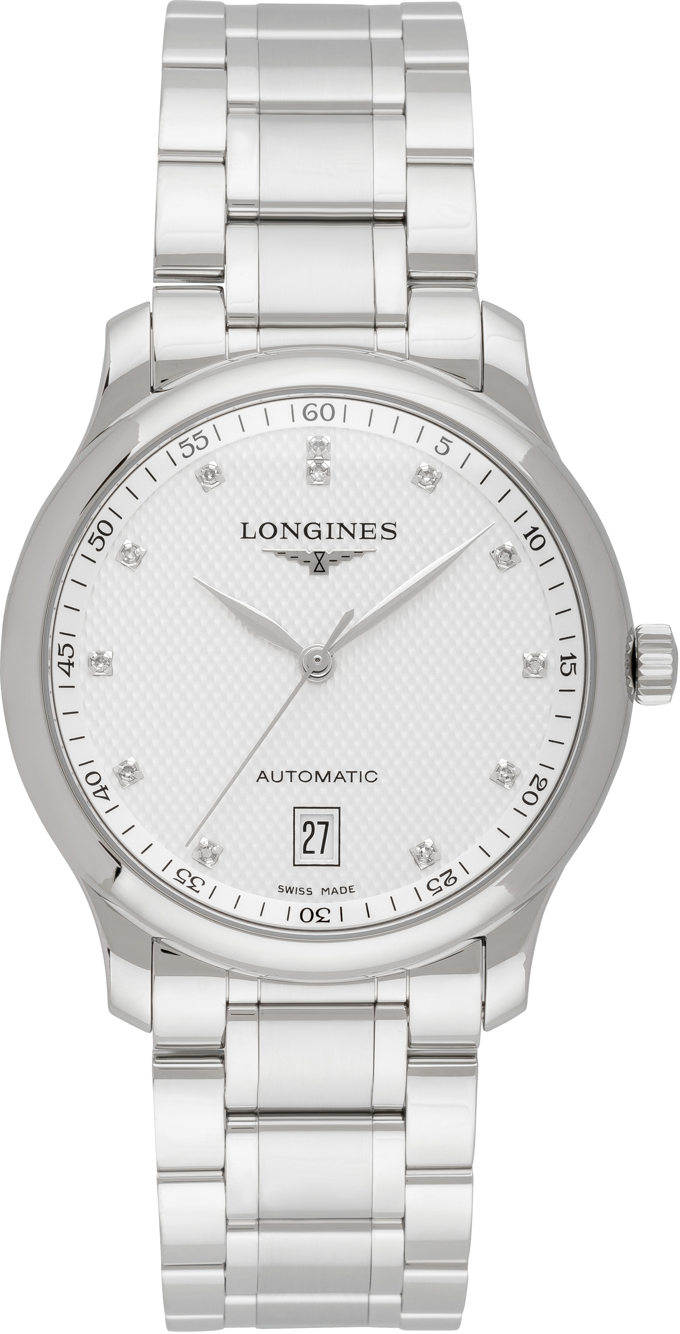 Longines Master Herreur L2.628.4.77.6 Sølvfarvet/Stål Ø38.5 mm