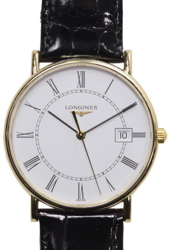Longines Grande Classique Dameur L4.743.6.11.0 Hvid/Læder Ø33.5 mm
