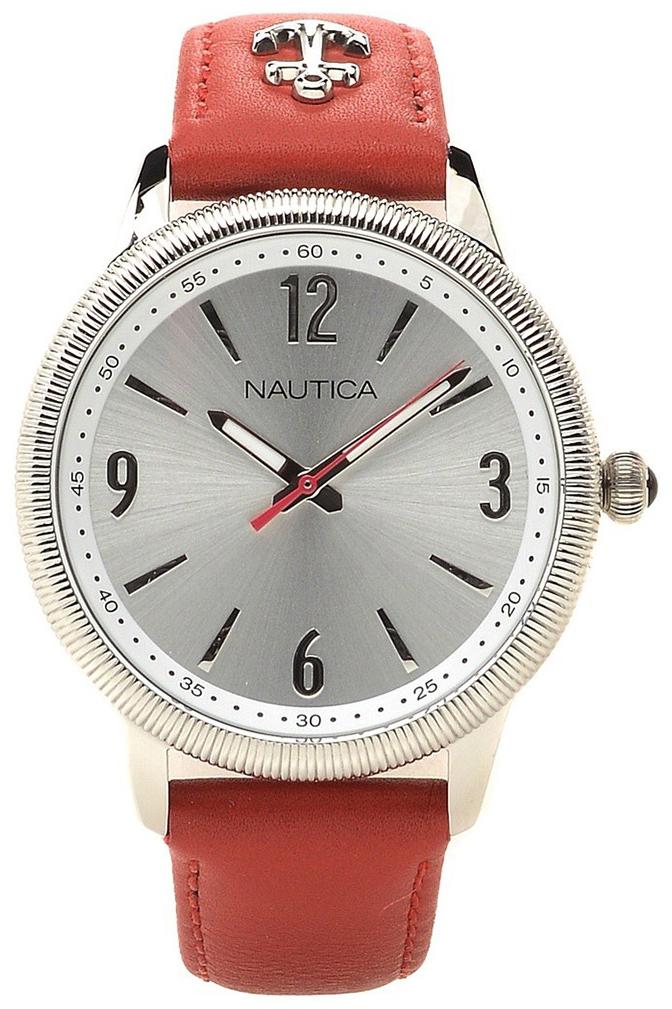 Nautica Analog Dameur NAI16530M Sølvfarvet/Læder Ø38 mm
