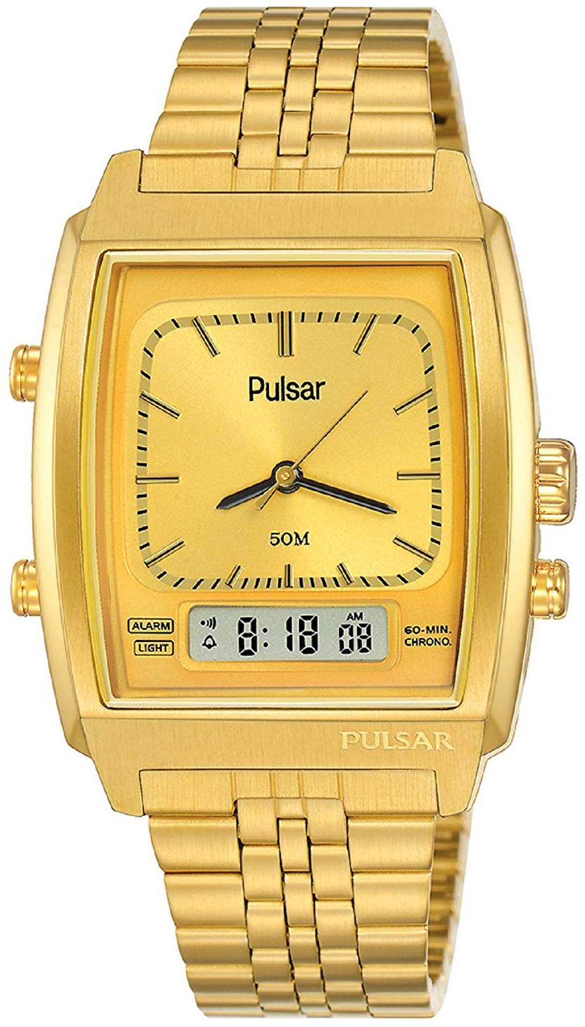 Pulsar 99999 Herreur PBK036X2 Guldfarvet/Gul guldtonet stål