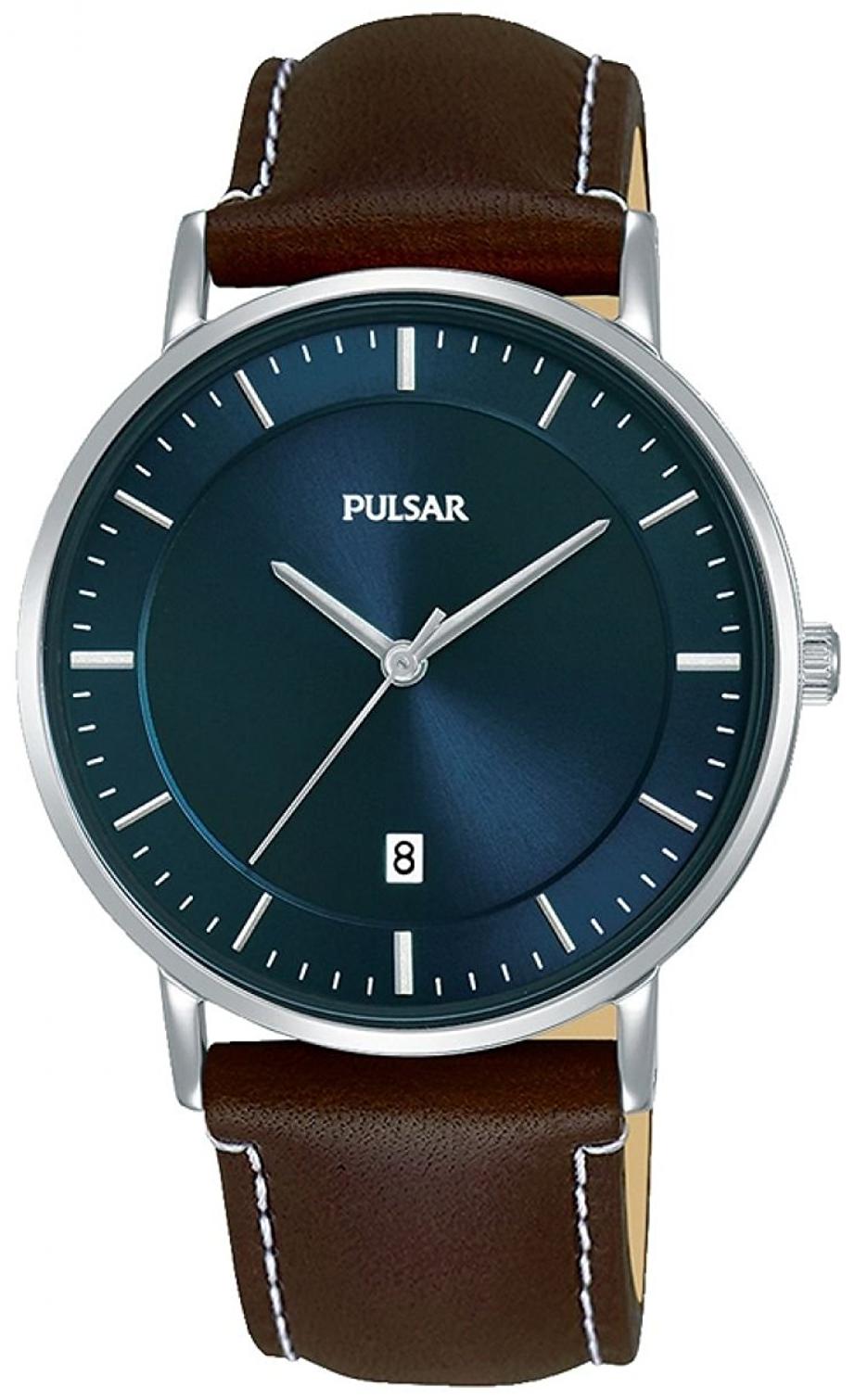 Pulsar Dress Herreur PG8257X1 Blå/Læder Ø38 mm